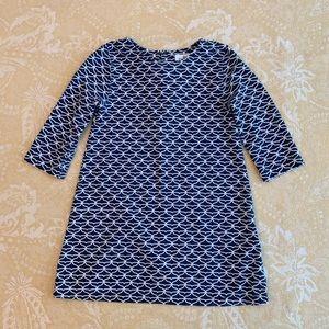 Vineyard Vines Blue Whale Tail Print Dress Size 4T